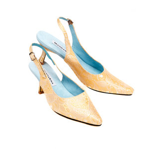 Gold & Silver Silk Wedding Shoes