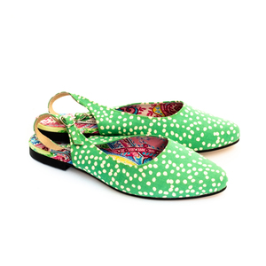 Green Dotty Sandals