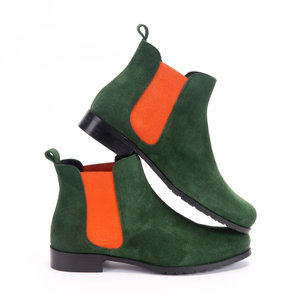 Green/Orange Chelsea Boots Factory Seconds