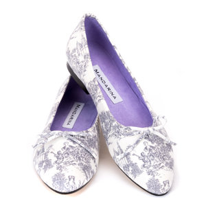 Grey Toile Pumps