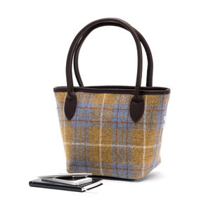 Harris Tweed Bucket Bag / Ochre