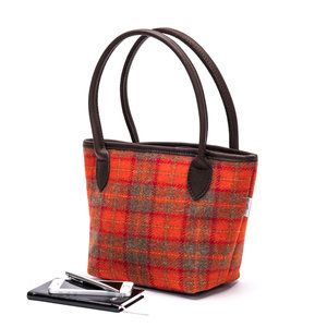 Harris Tweed Bucket Bag / Orange