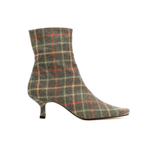Heritage Check Ankle Boots / Sage