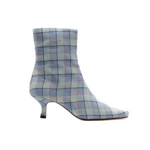 Heritage Check Ankle Boots / Sky
