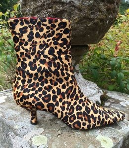 Leopard Print Ankle Boots Size 6