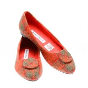 Mandarina Check Button Pumps