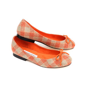 Maple Check Ballerina Pumps