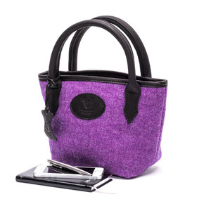 Mini Tweed Bucket Bag / Heather Purple