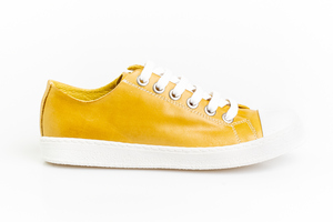 Mustard Leather Sneakers /Size UK8 Euro 41