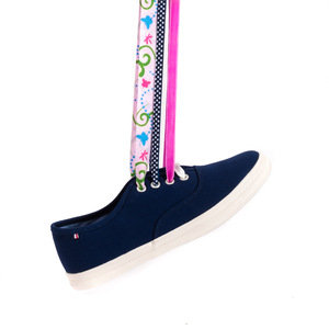 Navy Ribbon Plimsolls