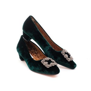 Opera Court Shoes / Green