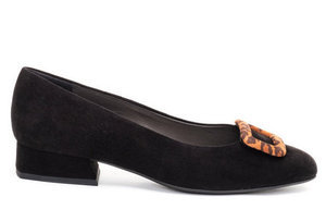 Pippa Buckle Flats / Black