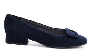 Pippa Buckle Flats / Navy