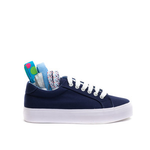Ribbon Sneakers / Navy