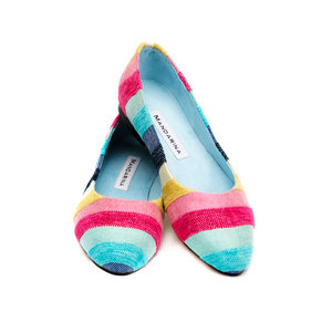 SHERBET STRIPE PUMPS