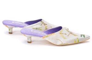 Silk Brocade Wedding Mule