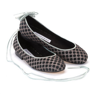 Taffeta & Velvet Ribbon Pumps