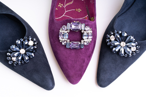AMETHYST & DIAMOND SHOE CLIPS