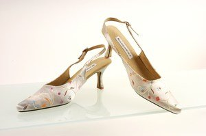 White Wedding Slingbacks