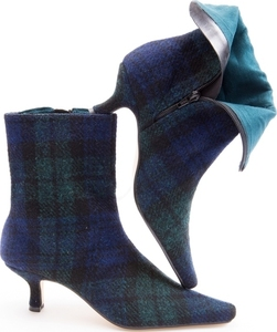Black Watch Harris Tweed Ankle Boots