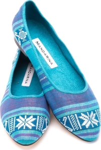 Turquoise Patterned Pumps