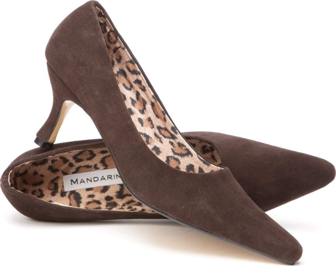 Classic Brown Suede Court Shoe