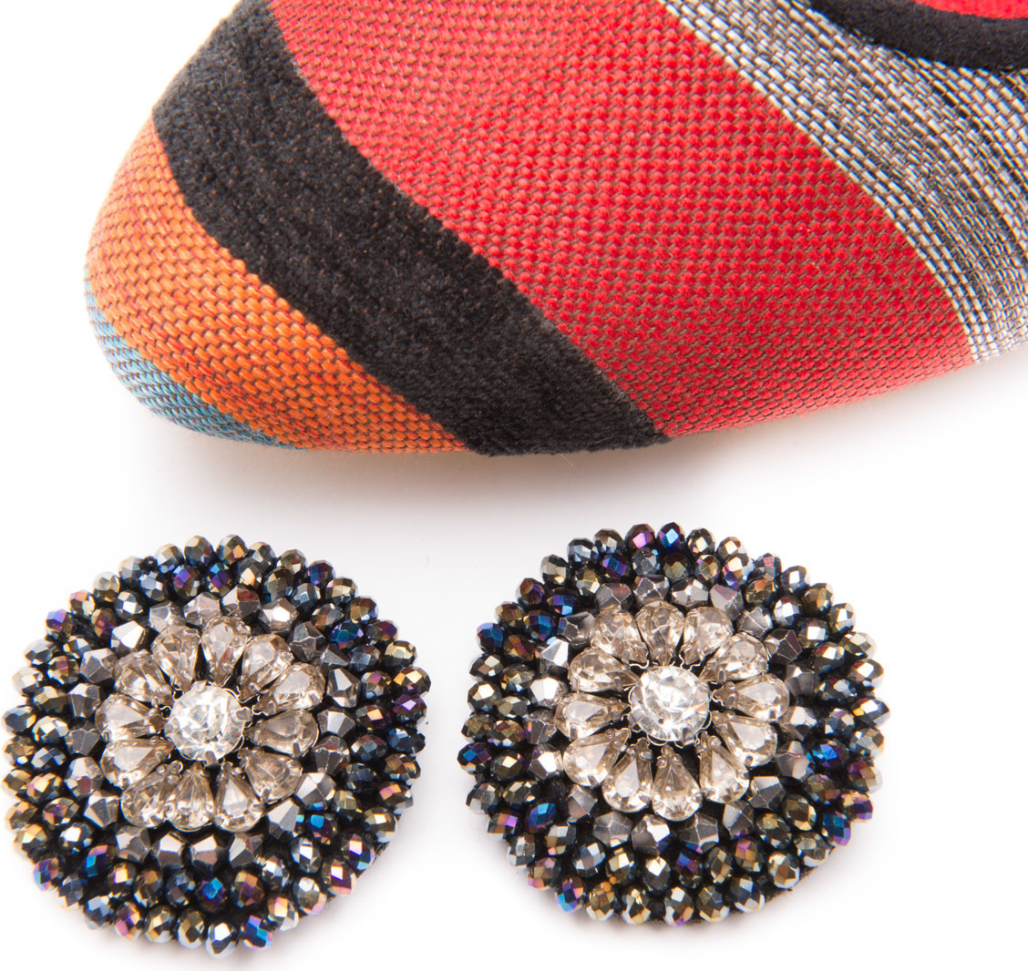 DIAMANTE BUTTON CLIP-ONS