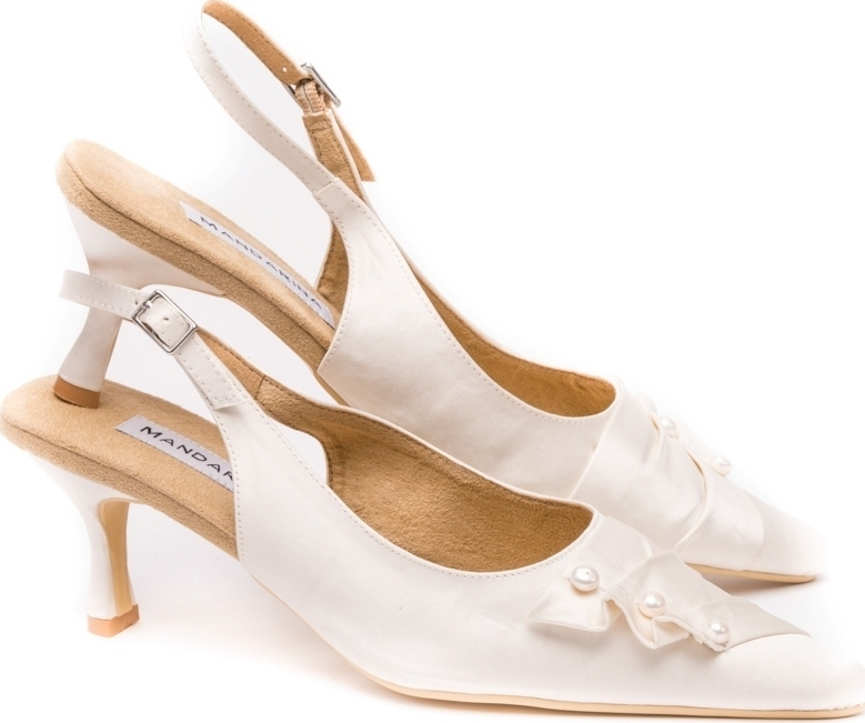 Pearl & Satin Wedding Slingbacks
