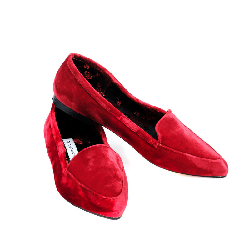 Brooksies Red Velvet Flats