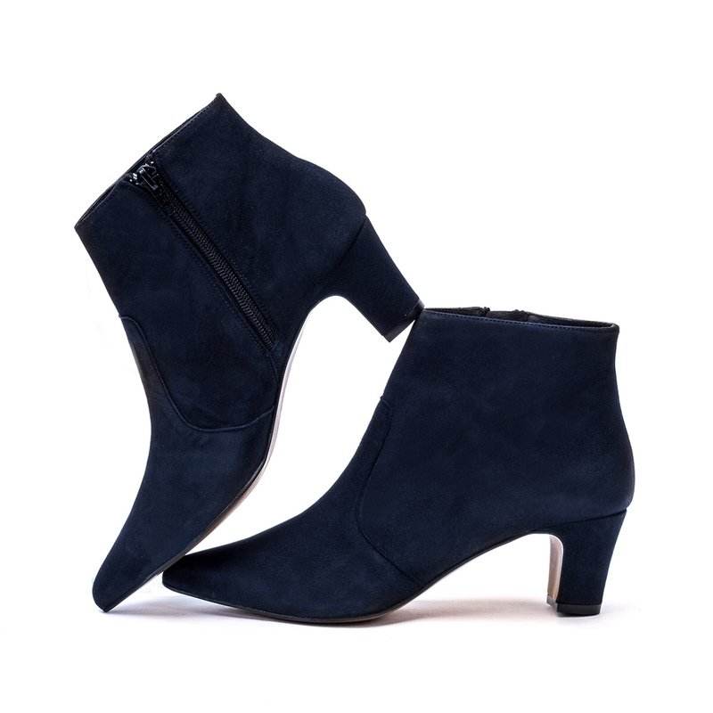 Comfortable Navy Blue Suede Shoes
