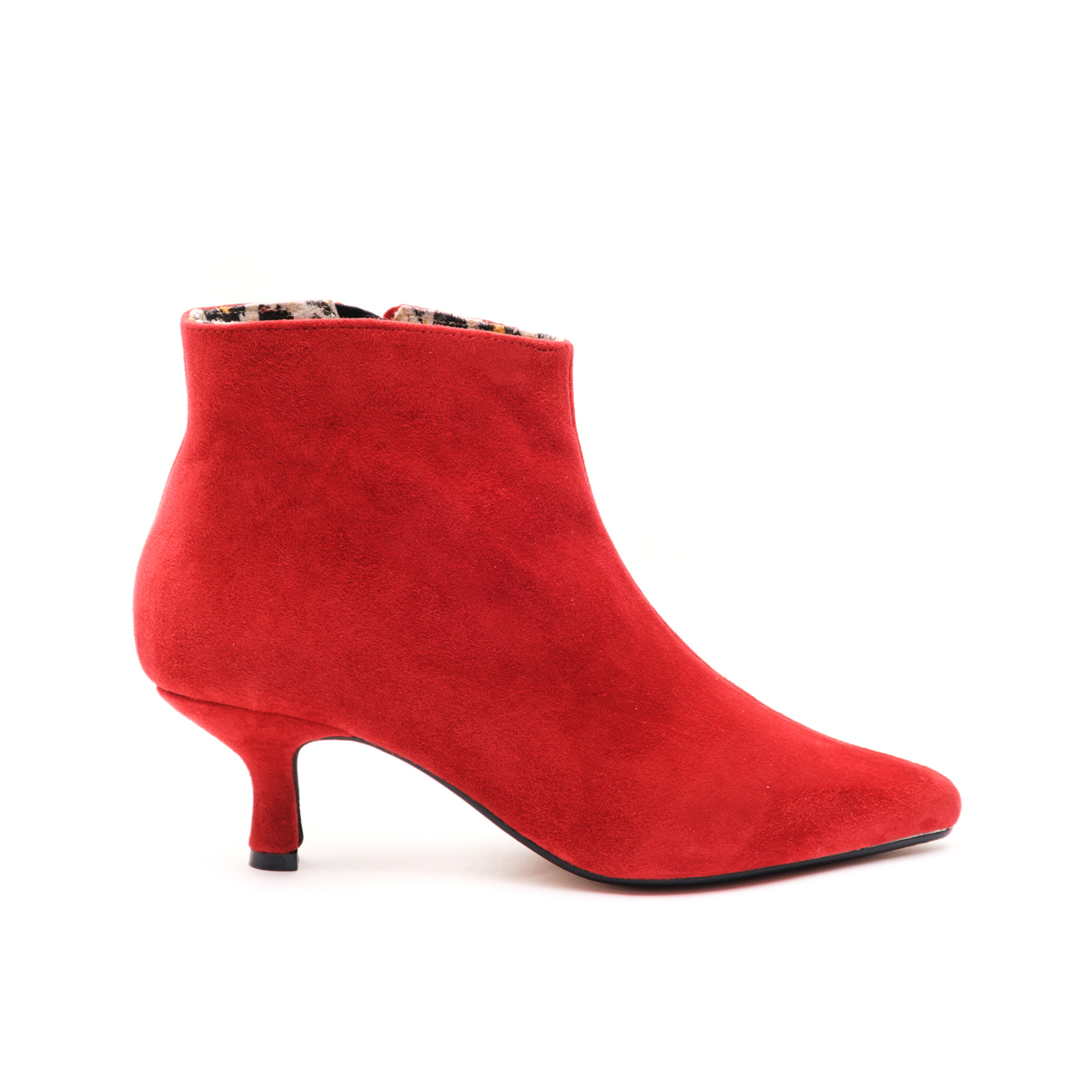 Red Suede Ankle Boots Size UK6 / Seconds